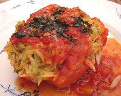 Chili und Ciabatta: Paprika mit Risonifüllung
