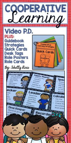 Cooperative Learning P.D. plus a great downloadable toolkit of Cooperative Learning strategies, desk tags, role cards and so much more! Keep Professional Learning meaningful!
