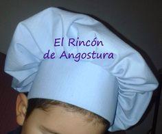 EL RINCÓN DE ANGOSTURA : Tutorial Gorro de cocinero - Chef's Hat