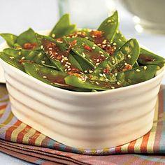 Orange-Sesame Snow Peas | MyRecipes.com  #MyPlate #vegetable