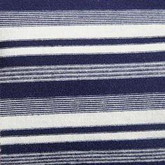 4c0f45df683 Navy Blue & White Yarn-Dyed Multi-Width Stripes on Cotton Lycra Jersey Knit  Fabric