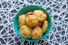 Gougeres..... otherwise known as fancy French cheese puffs.  Easy and so delicious!
