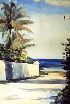 Road in Nassau - Winslow Homer (1836 - 1910) American illustrator and painter.