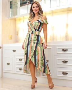 53 Ideas Dress Midi Casual Clothes For 2019 Elegant Dresses, Casual Dresses, Casual Outfits, Fashion Dresses, Summer Dresses, Casual Clothes, African Fashion, Striped Dress, Casual Wear