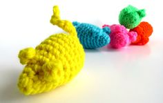Catnip Mouse Cat Toy Neon Party Mice by BrumbysYarns on Etsy, $5.00