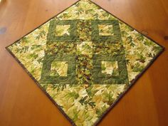 Handmade Quilted Tabletop Leaves Patchwork by PatchworkMountain, $30.00