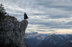 """Photographer Benoit Lapray's photo series, """"The Quest for Absolute"""" focuses on the loneliness of famous superheroes, set in the beautiful, yet desolate landscape of the French Alps."""
