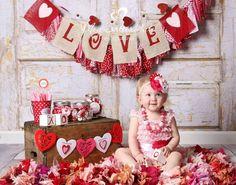 Baby Girl HeadbandValentine's Day by LolasBebeBowtique on Etsy, $15.50