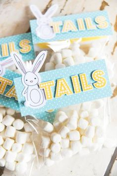 Marshmallow BUNNY TAILS!!  Such a cute and easy treat!  Just one of the inspiring ideas found in the A Muse Studio 2014 Spring Accessories Guide! http://www.kitchentablestamper.com