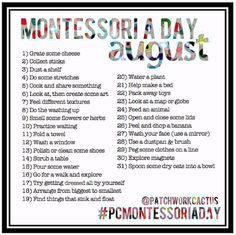 Montessori activities for toddlers #pcmontessoriaday