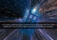 A new research paper entitled 'Traversable Achronal Retrograde Domains In Spacetime', physicists Ben Tippett and David Tsang of the Gallifrey Polytechnic Institute and Gallifrey Institute of Technology propose a spacetime geometry where Doctor Who's TARDIS would actually be capable of traveling both forward and backward through space and time. This kind of spacetime could hypothetically actually exist in our own universe. #science #physics #doctorwho #TARDIS ~PinDiv@~