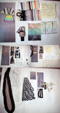 Fashion Sketchbook textiles design & exploration of colour, texture & pattern