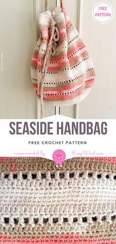 Seaside Handbag Free Crochet Pattern on easywool.com #freecrochetPatterns #freecrochetPatternsforbag #crochetbag #crochettote #crochetstitch #crochet #crochetfreepatternsforlady