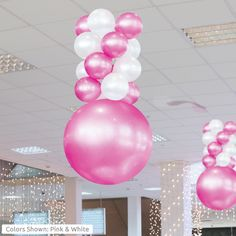PermaShine Balloon Ceiling Column Kit, the 4 layer balloon kit is approximately tall and is another great option for making a big impact indoors! Ballon Decorations, Balloon Centerpieces, Birthday Decorations, Halloween Decorations, Shower Centerpieces, Balloon Columns, Balloon Arch, Balloon Garland, Wedding Balloons