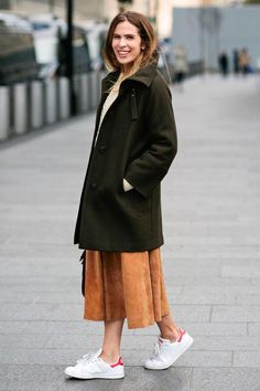 We love a good coat, including this dark green topper - click for more editor favorites!