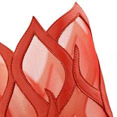Inferno read leather mule - Gianvito Rossi