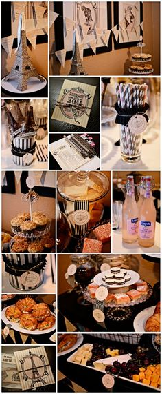 Paris themed party with delicious desserts and lots of lattes!