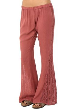 O'Neill Lace Inset Flare Pants