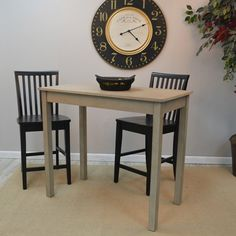Simple and straight-laced, the Carolina Tavern Pub Table is a counter-height table in a fashionable weathered gray finish. Pub Style Table, Counter Height Table, Office Desk, Home Improvement, New Homes, Furniture Ideas, Houses, Home Decor, Homes