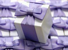 Elegant Favor box with bow  White candy box with by WeddingUkraine