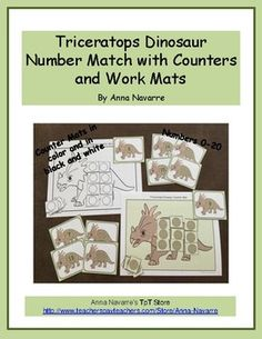 This Triceratops Dinosaur Number packet is a resource to help students learn numbers from 0-20 with an emphasis on 1:1 correspondence while counting. The packet provides this practice through both a number match and with the use of counters. The set includes number