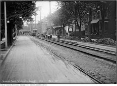 Yonge Street predates confederation by of a century. Here are some great Vintage Yonge Street pics from that show the changes. Toronto Ontario Canada, Toronto City, Hidden Art, Yonge Street, Places Around The World, Aerial View, Old Pictures, Over The Years, City Photo