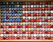 June 14 is FLAG DAY - Bottlecap American Flag.