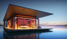 Designed by architect Dymitr Malxew, Floating House is exactly what you'd expect—a floating house. The soothing mobile home is situated atop a buoyant platform that allows it to remain afloat in the water while minimally impacting the environment and offering scenic views of its surroundings.