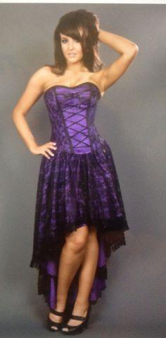 Purple corset dress