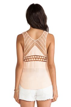 Macrame Tank. How cool would that tan line be?!  (;