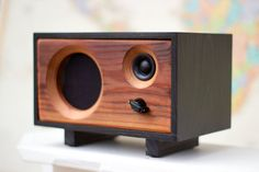 Wood Desk Speaker || Reclaimed Wood Wireless Bluetooth Speaker || Fawn Speaker…