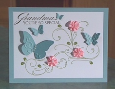Card Ideas SU / SU Beautiful Wings embosslit, (card made by Linda Throgmorton)