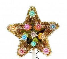 Vintage Christmas tree star decoration from the 1960's - I still have our topper like this