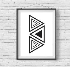 Tribal Printable Art Black and White Tribal Print by PrintAvenue