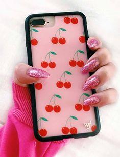 Cherries iPhone 6+/7+/8+ Plus Case | Pink - iPhone 6/7/8 Plus