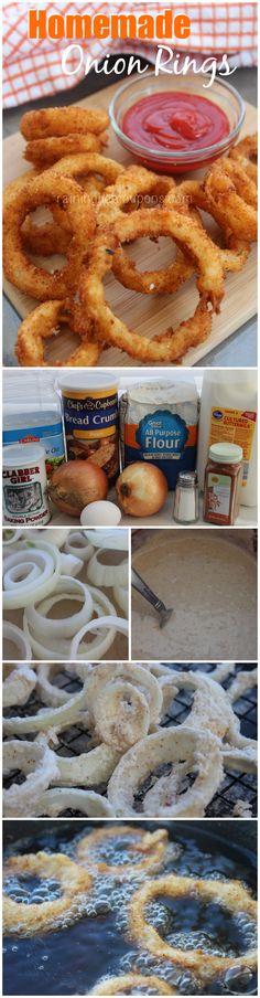 Homemade Onion Rings #homemaderings