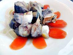 Peste marinat, macrou, scrumbie Samurai Tattoo, Fresh Rolls, Pickles, Sushi, Seafood, Cooking, Ethnic Recipes, Canning, Sea Food