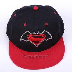 dc0f79c6eb649 Superman Vs Batman Cool Red Streetwear Snapback Hat Cap. Superheroes Gears