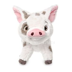Disney Pua Plush - Disney Moana - Small - 9 Inch - They will squeal with delight when they give Moana's precious pet swine a warm hug. This adorable Pua plush is so soft and cuddly, they will know why Moana loves him so much. Moana Disney, Disney Plush, Disney Toys, Disney Films, Disney Gift, Plush Dolls, Doll Toys, Sakura Card Captor, Pembroke Welsh Corgi Puppies