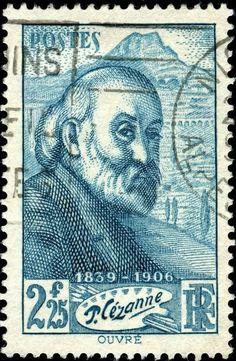 Paul Cézanne postage stamp - France