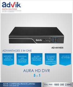 5 in 1 Aura HD DVR with 5 modes of recording is a groundbreaking product. !!! The Aura HD 5 in 1 DVR is compatible with all outdoor based security cameras as well as the #wirelesscameras for the #security system. You can access the live streaming system videos from the #DVR through a wide range of internet based smartphones as well as computers. Each of these DVRs comes with a pre-installed hard drive of reliant security grade. The Aura HD 5 in 1 DVR is advantageous as it supports 5 modes of…