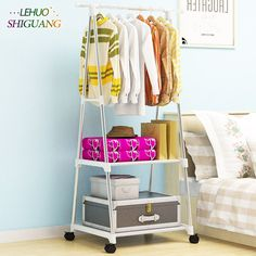 Living Room Furniture Home Furniture 2019 New Style Coat Rack Nonwovens Stainless Steel Simple Assembly Can Be Removed Bedroom Move Triangle Clothes Hanger Wardrobe Furniture Durable In Use