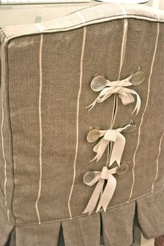 Chair slipcover - love the ties