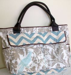 Feather's Flights: a creative, sewing blog | Birds of a Feather Diaper Bag