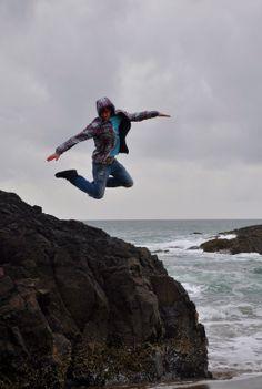 A boy jump