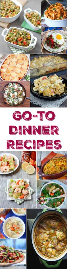 A roundup of 30 easy dinner recipes that can be added to your list of go-to recipes when you don't feel like trying something new. Try them, love them, make them again and again!