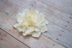 NEW Ivory Mini Flower Hair Clip- Lotus Blossom - With or Without Rhinestone Center Flower Hair Clips, Flowers In Hair, Boutique Bows, Lapel Pins, Lotus, Headbands, Ivory, Mini, Awesome