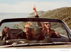 It looks like the rumors were true! Vogue US has just released its March 2015 cover and its stars none other than best friends Taylor Swift and Karlie Kloss. The BFFs pose for Mikael Jansson in a road trip inspired photo shoot featuring selfies, open roads and pretty dresses. Taylor and Karlie pose in designer looks from the ...