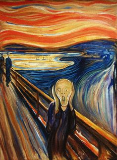 Oil painting (Scream) by Edvard Munch famous oil painting on canvas for wall decoration high quality Famous Art Paintings, Famous Artwork, Classic Paintings, Famous Art Pieces, Great Paintings, Van Gogh Paintings, Edvard Munch, Arte Pink Floyd, Le Cri