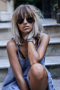 Minus the nose ring - Balayage Haare Blond Kurz Good Hair Day, Great Hair, Vintage Hairstyles, Cool Hairstyles, Hairstyles Videos, Ponytail Hairstyles, Hair Inspo, Hair Inspiration, Medium Hair Styles